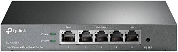 TP-Link TL-R470T+ Load Balance Broadband Business Router with Up to 4 WAN Ports 0 Mbps Wireless Router