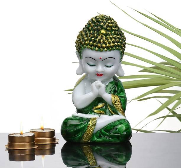 Flipkart Perfect Homes Holy Buddha Statue Decorative Showpiece  -  19 cm