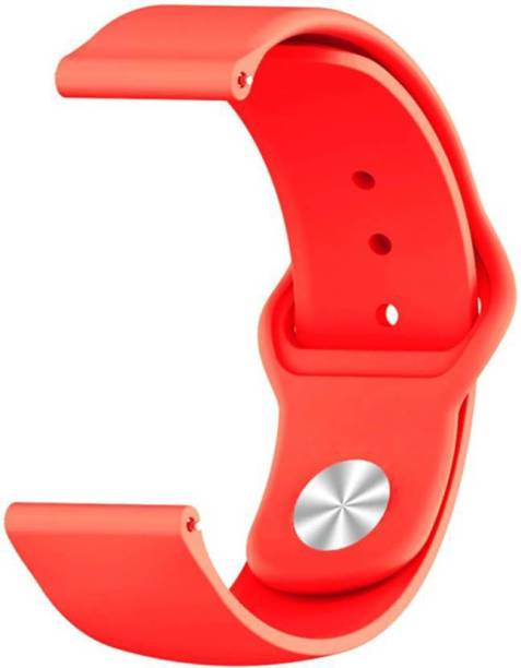 gettechgo Soft Liquid Silicone 20 mm smart watch Band Compatible with Samsung Galaxy Watch 3 41mm, Galaxy 42mm, Galaxy Active 40mm, Active 2 (40-44mm) / AmazeFit BIP/BIP Lite/AmazeFit GTS, Amazefit GTR (42mm) / VivoActive 3 / RealMe Classic, Fashion & Smartwatches with 20mm Lugs Smart Watch Strap