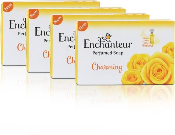 Enchanteur Charming Perfumed Soap, 75 g(Pack of 4)