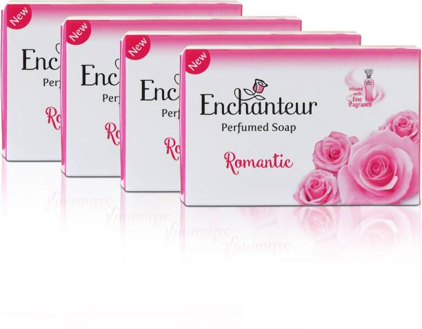 Enchanteur Romantic Perfumed Soap, 75 g(Pack of 4)