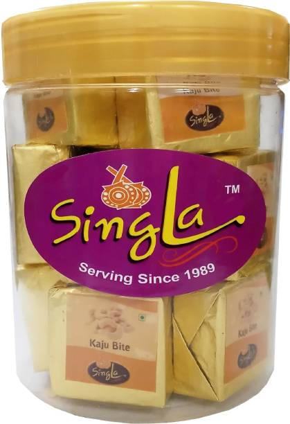 Singla Kaju bites tasty burfi sweets 350g Plastic Bottle