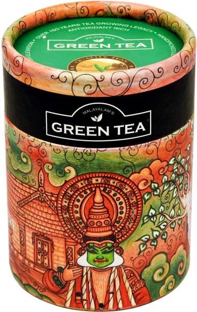 Harrisons Malayalam Green Tea Anti Oxidant Rich Finest Quality From Wayanad Plantations, 100 g Tea Mason Jar