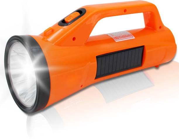 Sunaze SOLAR Power 30 Watt Laser + 20 SMD Side Emergency Long Range Rechargeable Torch KIssan Light Torch