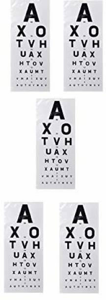 Agarwals Eye Vision Test Chart English (Pack Of 5) Snellen Vision Test Chart