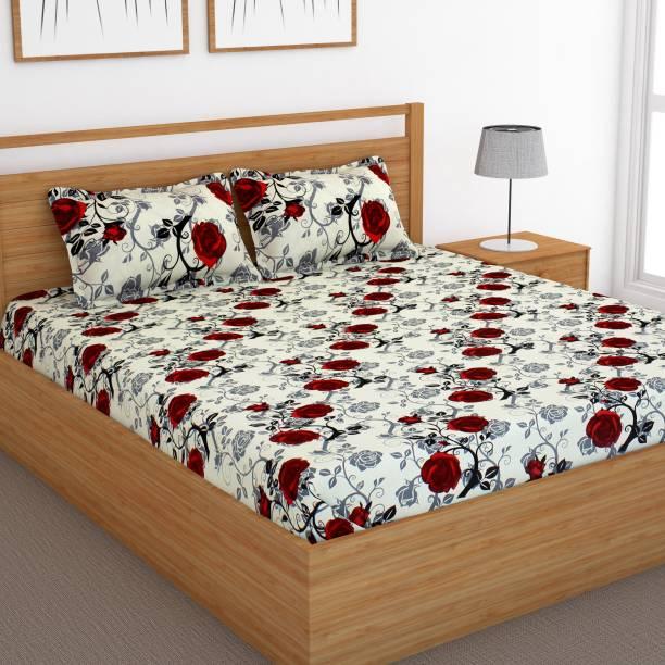 Bedspun 120 TC Cotton Double Floral Bedsheet