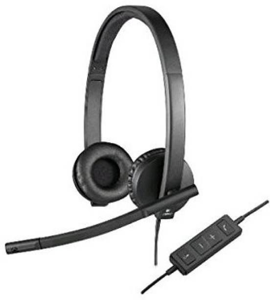 Logitech Usb H570E Corded Double-Ear Headset (981-000574) Wired Headset