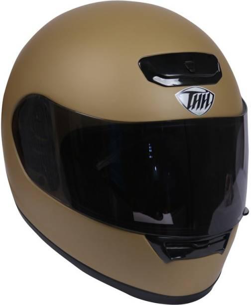 THH HELMETS TS-15 Plain Full Face Single Shield Helmet (Desert Storm, Matt) Motorbike Helmet