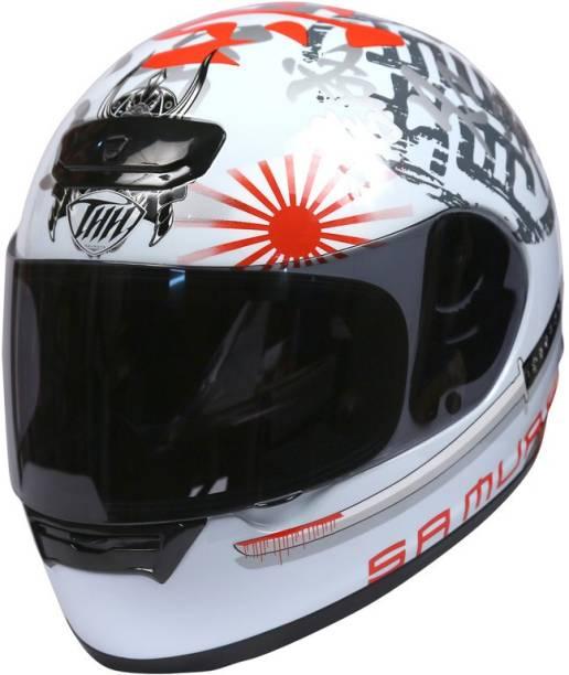 THH HELMETS TS-15 Samurai Full Face Single Shield Helmet (White, Matt) Motorbike Helmet