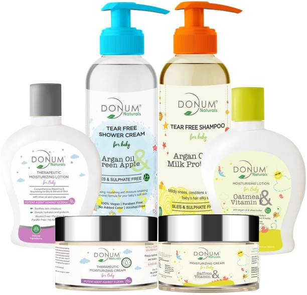 Donum Tear Free Baby Shampoo, body wash, Moisturizing Lotion, Protect & Repairing Cream