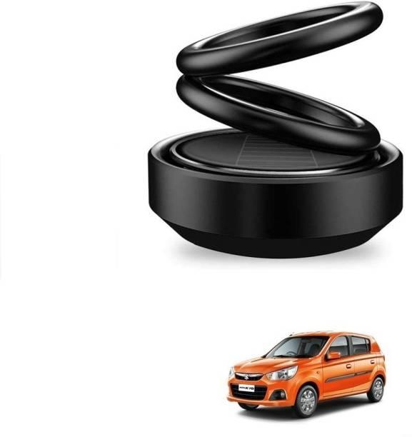 Auto Smart Look ASL1713 Car Solar Ring Air Freshener Double Loop Rotary Air Conditioner Dashboard Air Freshener Perfume Black For Maruti Alto K10 Air Purifier