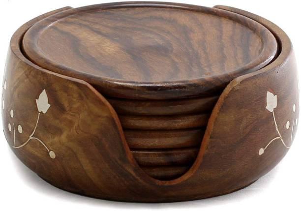 VDIX Round Wood Coaster