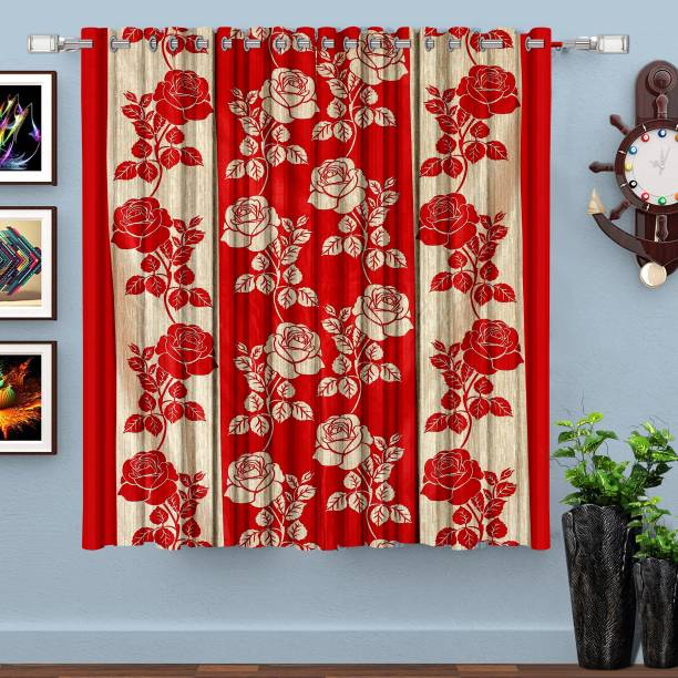 HOMETIQUE 152.4 cm (5 ft) Polyester Window Curtain Single Curtain