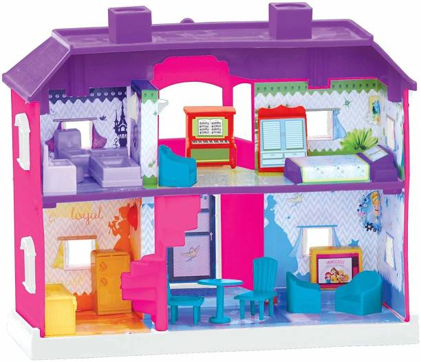 Toyzone My Disnep Princess Country Dollhouse With Furniture Toy For Kids(Toy For Boys and Girls)