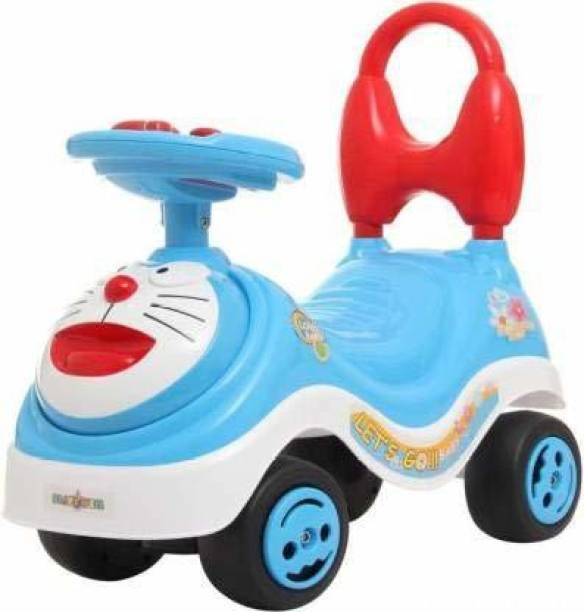 Kidzy mini MAGIC CAR & FROG SCOOTER & PUSH TRICYCLE & BICYCLE & CYCLE with DORAEMON cartoon & latest MUSIC handle & non PEDAL SKATE type operated toy for BABY & KIDS & CHILDREN ride in HOME & OUTDOOR use ( multicolour ) Car Non Battery Operated Ride On