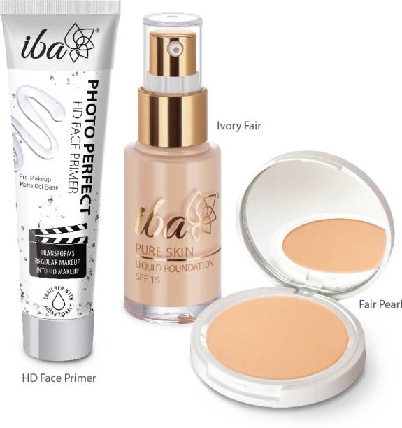 Iba Foundation + Compact + Primer Face Makeup Combo (Ivory Fair)