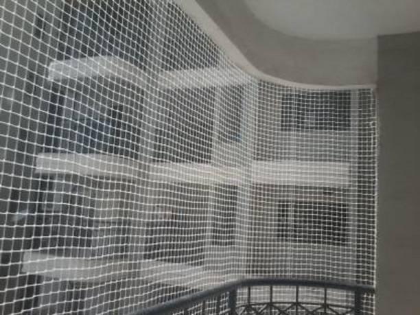 Golden enterprises Anti bird net 5x3ft, four side interlock, 15pcs Plastic cable clip & corner rope Football Net