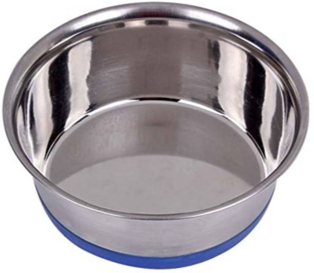 PETS EMPIRE Heavy Duty Feeding Round Stainless Steel Pet Bowl