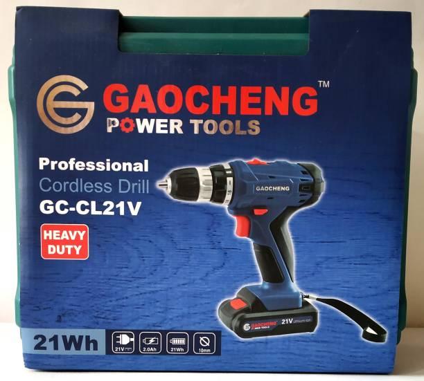 GAOCHENG GC-CL21V Professional Cordlress Drill 21Wh, 10mm, 2.0Ah, 21V Pistol Grip Drill