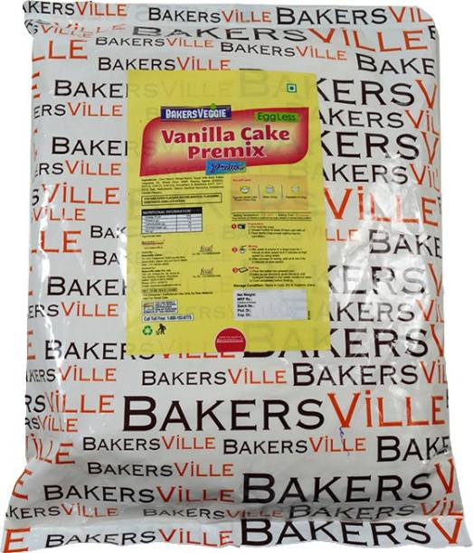 Bakersveggie Eggless Vanilla Cake Premix Prime 1 kg