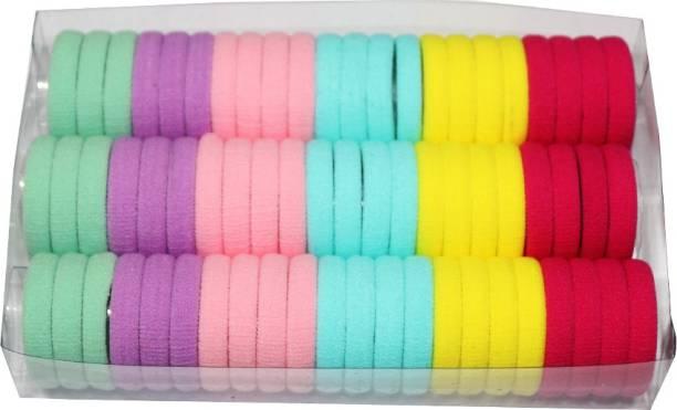 Heezal Enterprise 66 Pieces Elastic Soft Rubber Hair Bands Rubber Band (Multicolor) Rubber band Rubber Band