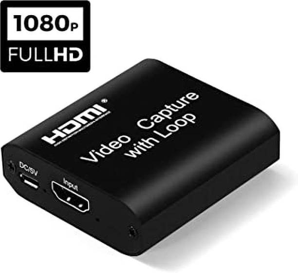 See Good 4k HDMI Capture Device with Loop Out, HD 1080P 60FPS for Live Streaming Broadcasting Video Recording for PS3/4, Xbox One & Xbox 360, Switch, DSLR, Camcorders Media Streaming Device