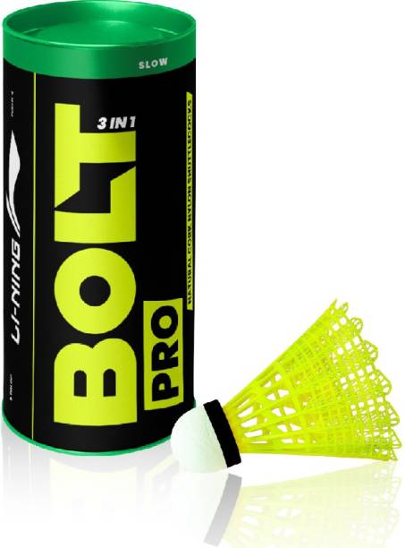 LI-NING Bolt Pro (3 in 1) Nylon Shuttle  - Yellow