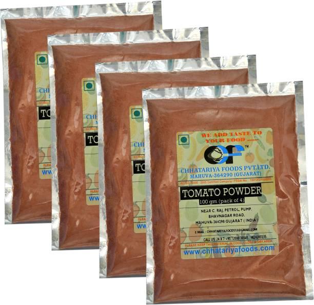 Chhatariya Foods TOMATO POWDER 100 Gm Pack of 4