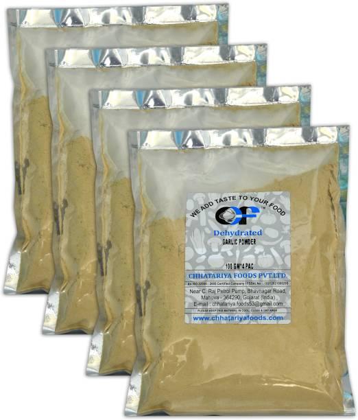 Chhatariya Foods PURE GARLIC POWDER 100 Gm Pack of 4