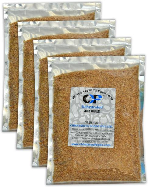 Chhatariya Foods DEHYDRATED GARLIC GRANULES 100 Gm Pack of 4
