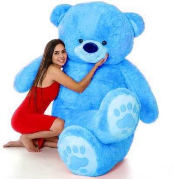 Balni 3 Feet Very Cute Long Soft Hugable American Style Teddy Bear Best For Gift - 90 cm (sky Blue) - 91 cm (Sky Blue)  - 91 cm