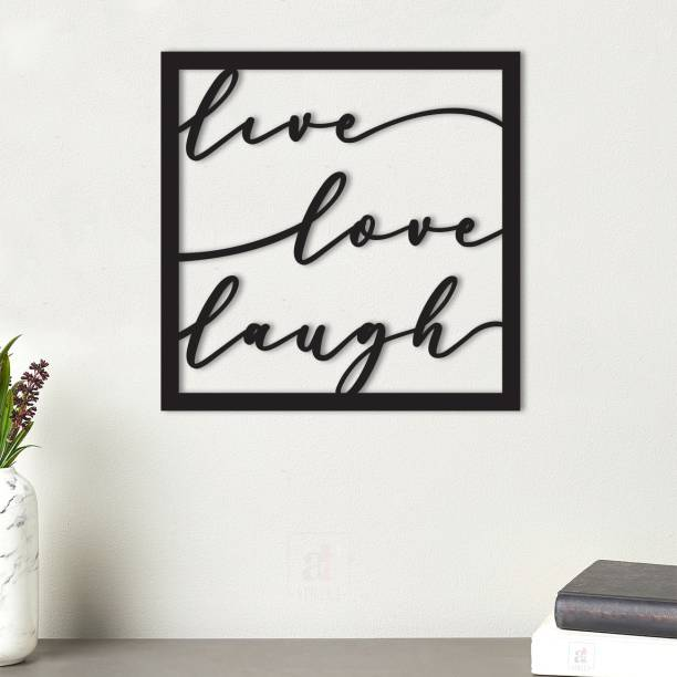 Painting Mantra Live Love Laugh MDF Plaque Painted Cutout Ready to Hang Home Décor, Wall Décor, Wall Art,Decorative MDF Plaque For Home & Wall Decoration-Size10 X 10 Inches