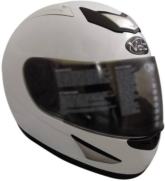 THH HELMETS Plain Full Face Single Helmet (White, Glossy) Motorbike Helmet