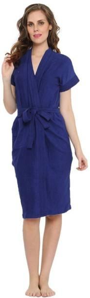 Flipkart SmartBuy Blue Free Size Bath Robe