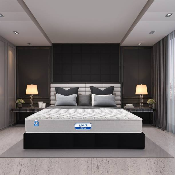 Amore International Active Dual 4 inch Double High Resilience (HR) Foam Mattress