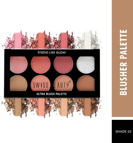 SWISS BEAUTY Ultra Blush Palette, Face Makeup, Shade-03 ,16 gm