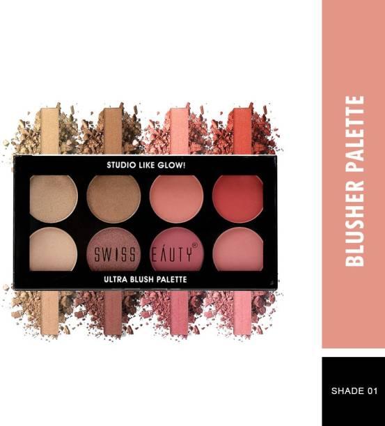 SWISS BEAUTY Ultra Blush Palette, Face Makeup, Shade-01 ,16 gm