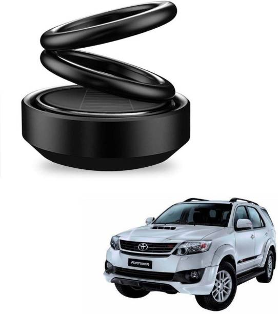 Auto Smart Look ASL1738 Car Solar Ring Air Freshener Double Loop Rotary Air Conditioner Dashboard Air Freshener Perfume Black For Toyota Fortuner Air Purifier