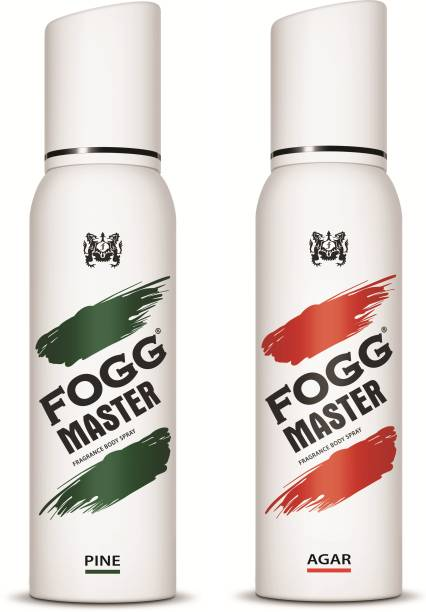 FOGG Combo Pack ( Master Pine + Master Agar 300ml) Body Spray  -  For Men