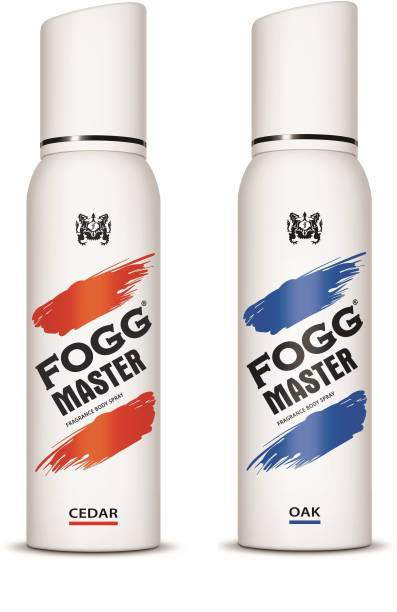 FOGG Combo Pack(Master Cedar + Master Oak 300ml) Body Spray  -  For Men