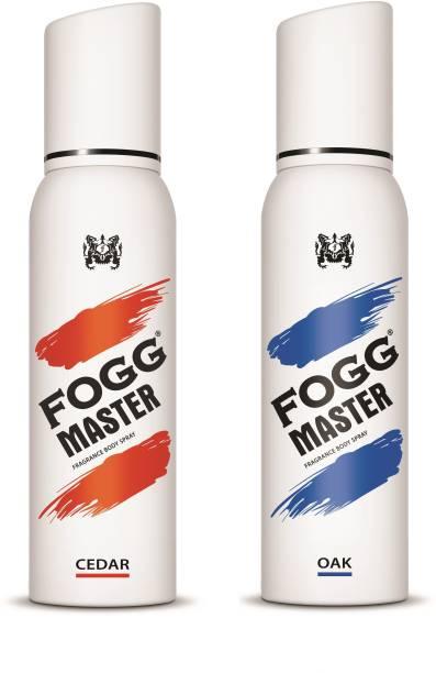 FOGG Combo Pack(Master Cedar + Master Oak 300ml) Body Spray  -  For Men