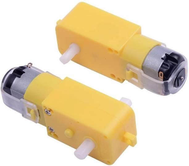 Manushre Manas Enterprises BO Motor TT Geared Motor for Smart Car Robot Yellow Dual Shaft for Car Chassis(Pack of 2) Educational Electronic Hobby Kit