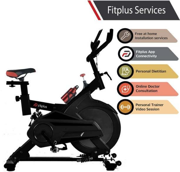 FITPLUS FP1 (30lbs Flywheel) with Diet Plan, Trainer & Installation Services Spinner Exercise Bike