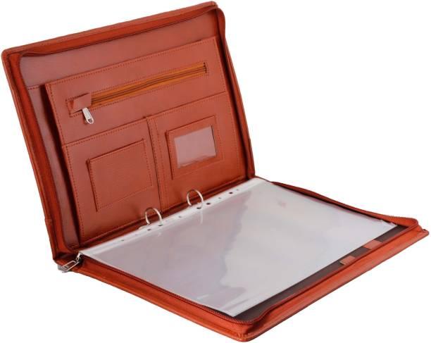 ZesTale Premium Leatherette 2 Ring Document Folder (With 20 leaf)