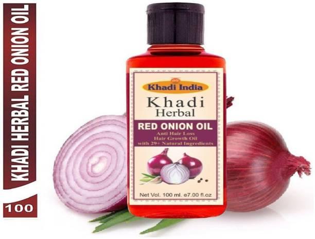 Khadi Herbal Red Onion Oil For Hair Growth Anti Hair Fall (Pack Of-1) Hair Oil (100 ml) Hair Oil