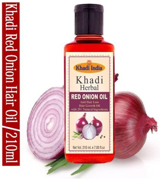 Khadi Herbal Red Onion Oil For Hair Growth Anti Hair Fall (Pack Of-1) Hair Oil (210 ml) Hair Oil