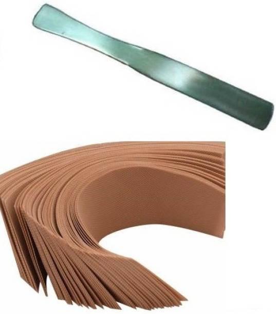 DOUBLE LIPS Wax Strips- Body Hair Removal All Skin Types Waxing Strips Strips + Wax Reusable Steel Knife Spoon Strips