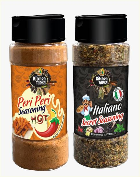 KITCHEN TADKA |Peri Peri Masala|Powder|Seasoning|Italian Herbs|Pizza|Pasta|Taste Maker|