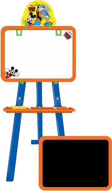 DISNEY Mickey & Friends 5-in-1 Easel with 2 boards, stand and accessories