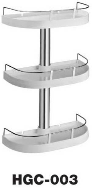 CIPLA PLAST Caddy Shelf Plastic, Stainless Steel Wall Shelf